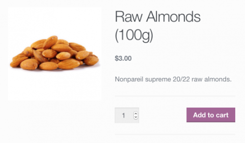 Simple Product: Raw Almonds Bag